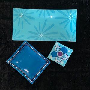Ganz bundle of 3 glass trays